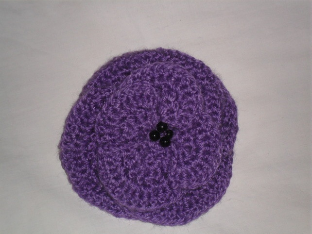 Hair Clip purple crocheted ?2.50