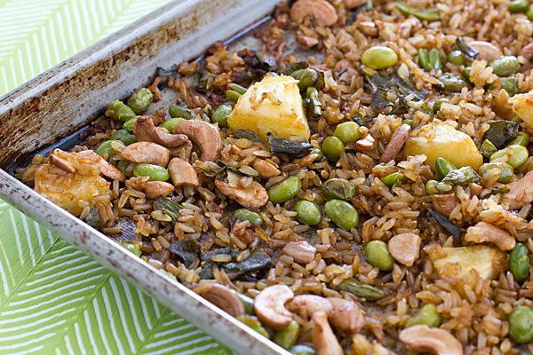 Baked Fried Brown Rice - make it in the oven instead of on the ...