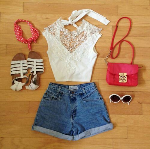 Outfits With BandanasForever 21 Summer Outfits Tumblr