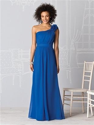 Sublime robe bleu Klein, asymétrique...