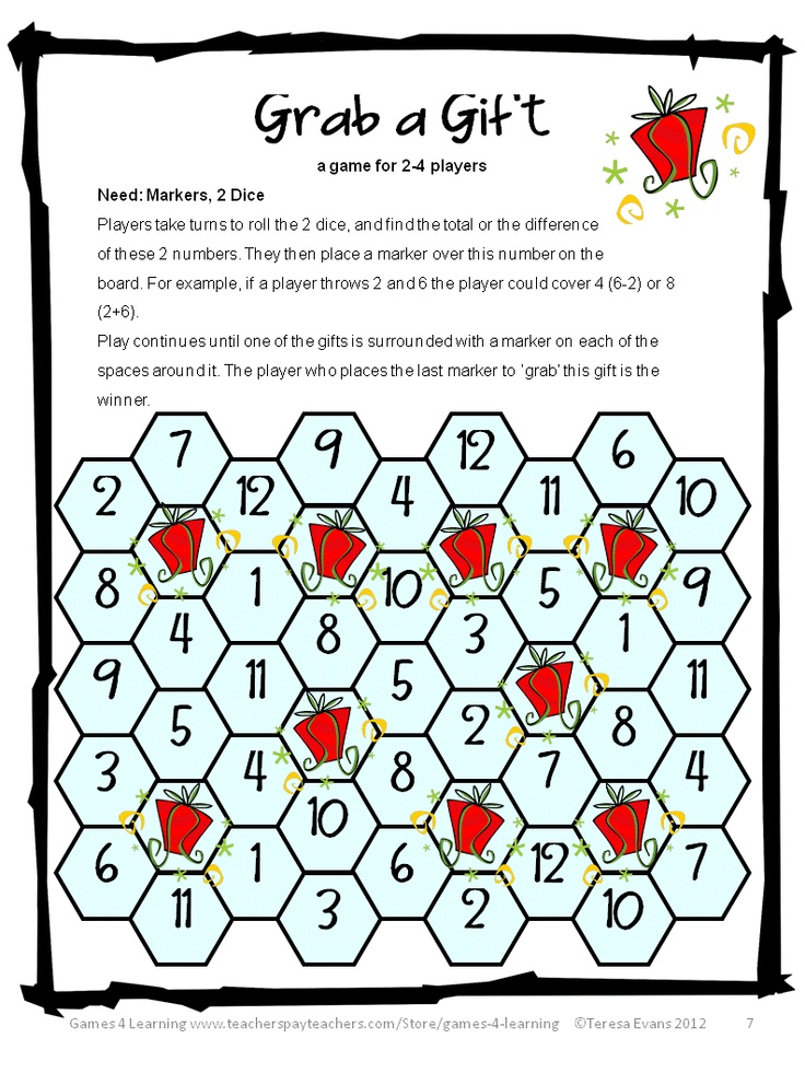 Christmas Math, Games, Puzzles and Brain Teasers is a collection from ...