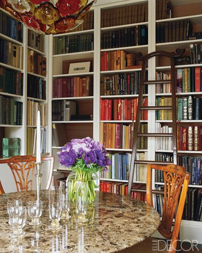 Dining room library combination libraries pinterest for Dining room library