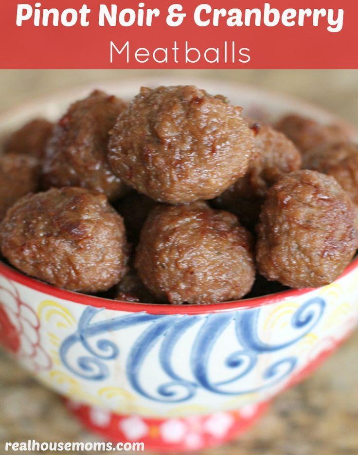 Pinot Noir & Cranberry Meatballs | Recipe