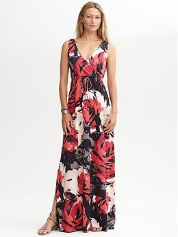 Floral Patio Dress (Deep Rose). Banana Republic. $130.00