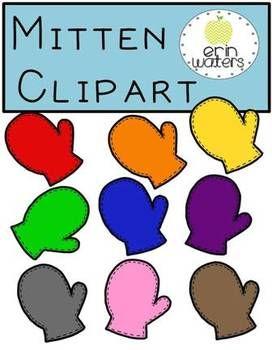 Cute mitten clipart for winter math & literacy stations!