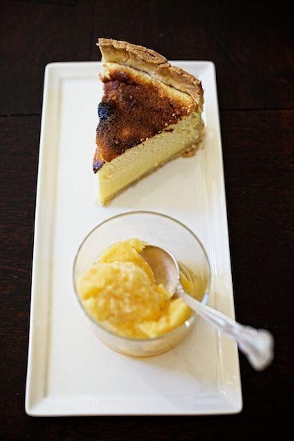 Tangerine sorbet and chevre tart   Food Stuff   Pinterest