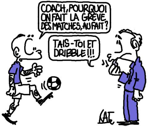 foot en grève http://undessinparjour.wordpress.com/2013/10/28/quand-les-patrons-declenchent-la-greve/