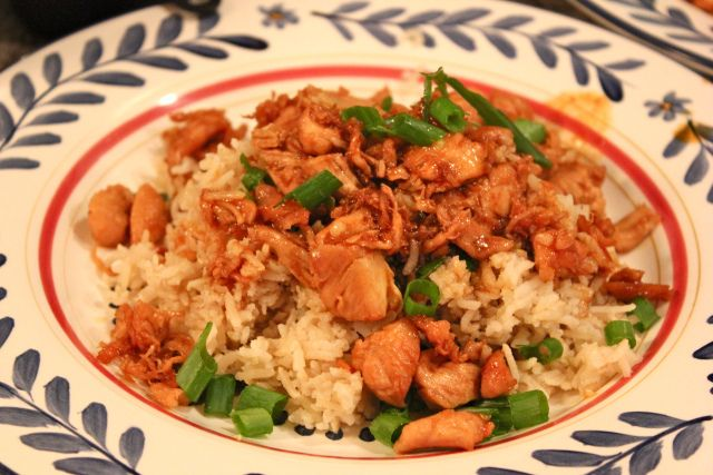Healthy Orange Chicken & Brown Rice. This was DELICIOUS!! Maybe double ...