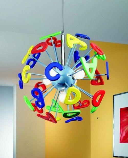 lampadario per cameretta : Lampadario multicolore per la cameretta di bambini ispirato all ...