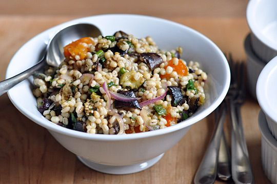 Mediterranean Eggplant and Barley Salad from Epicurious — Recipe ...