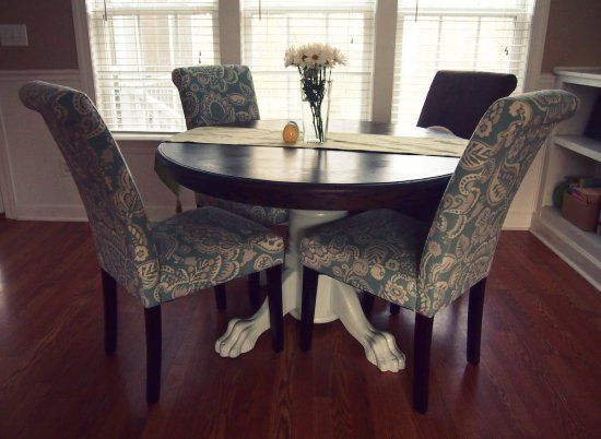 Table refinishing the kitchen table for the home pinterest - Refinished kitchen table ...