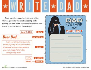 father's day letter example