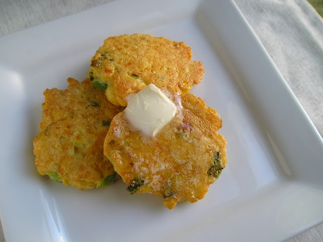 Cheddar Corn Cakes With Green Onion Sour Cream Recipe ...