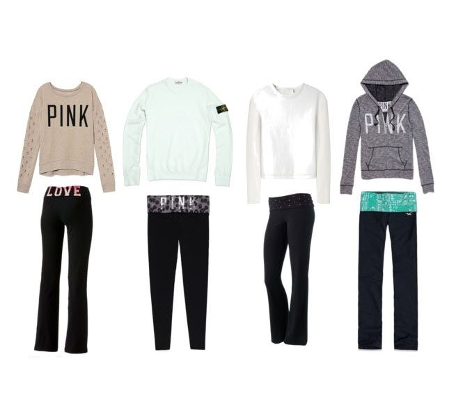 Typical everyday College outfit  Yoga pants       College Style Cute Lazy Day Outfits With Yoga Pants