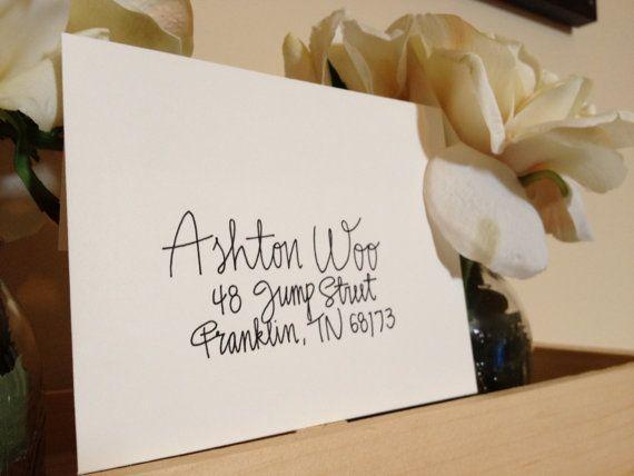 Wedding Invitation Addressing Handwritten Envelopes Ashton