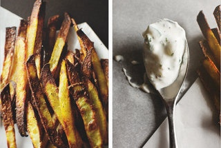 Curry Spiced Pomme Frites + Cucumber Dip | eat me | Pinterest