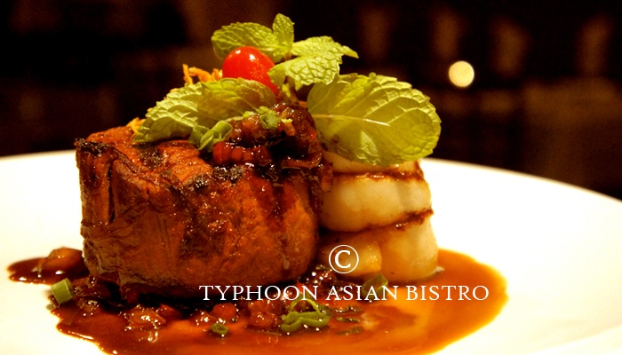 Filet Mignon & Seared Scallops With Chinese Red Wine Sauce by Typhoon ...