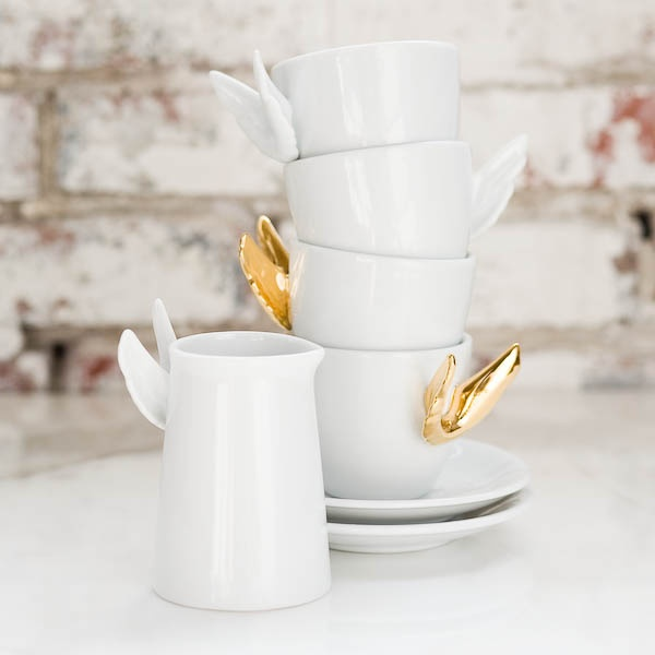 alada gOld winged teacup set ♥