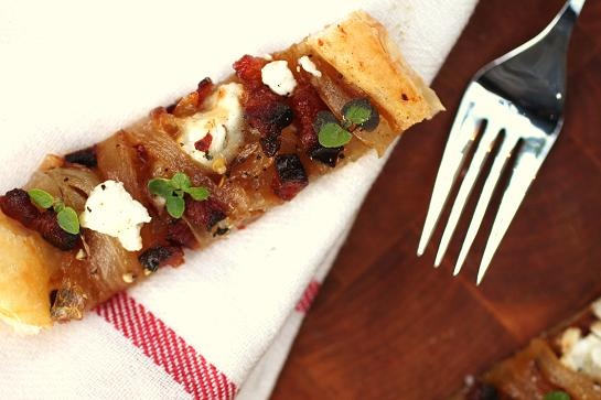 Classic: Caramelized Onion, Bacon & Goat Cheese Tart