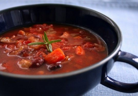 Roasted Vegetable Minestrone Soup | Recetas VEGANAS | Pinterest