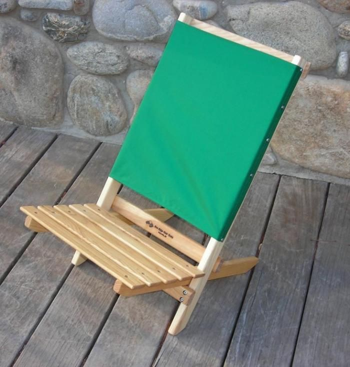 High Low Folding Wood Beach Chairs by
