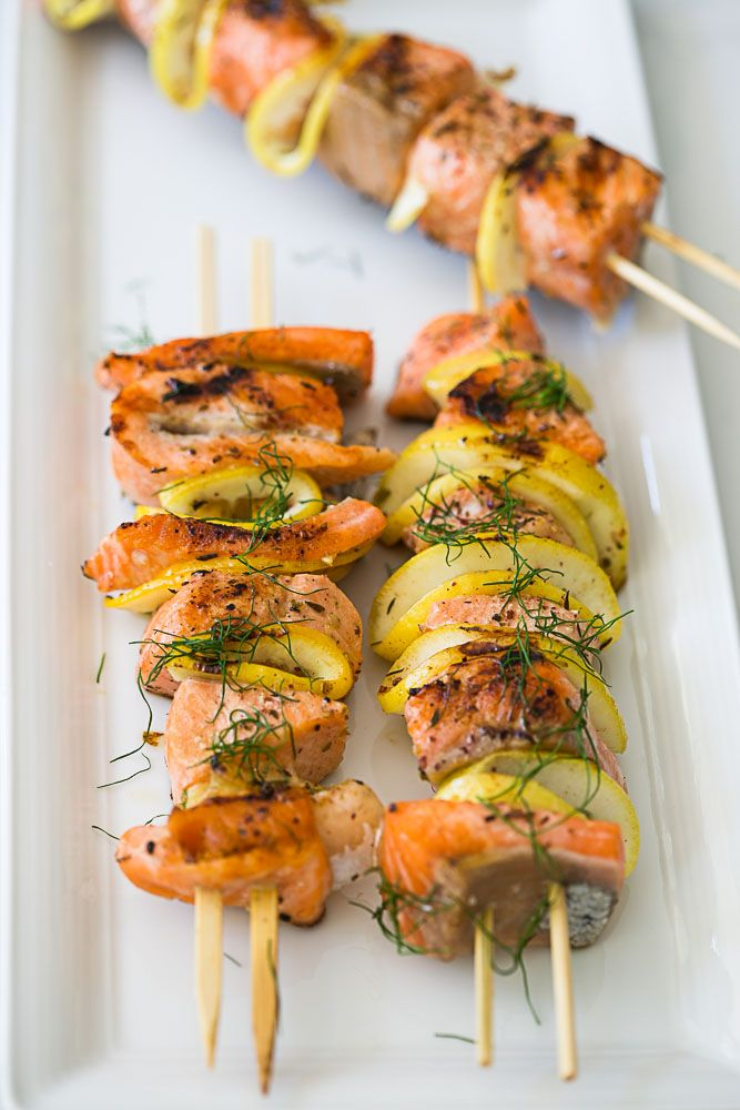 Ed Baines' Salmon Skewers Recipes — Dishmaps