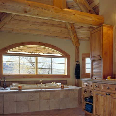 Cabin Bathroom Bathrooms Pinterest