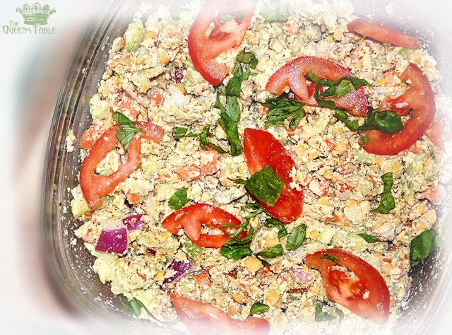Vegetarian Mock Tuna Salad | The Queens Table Recipes | Pinterest
