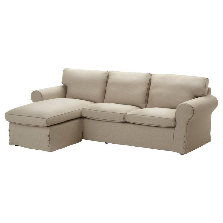 Ektorp Loveseat And Chaise Lounge Risane Beige Natural