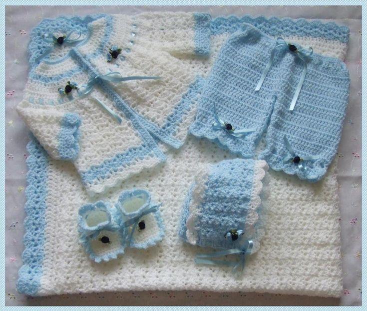free Vintage Crochet Baby Layette Set | BABY CROCHET LAYETTE PATTERN ...