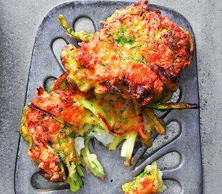 Golden zucchini-feta cakes | Seasonal Side Dishes | Pinterest