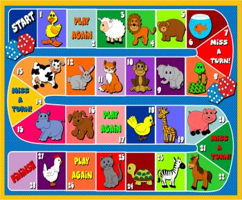Animals board game - 2nd graders