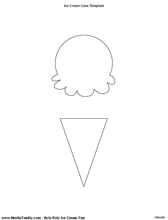 Ice Cream Template Ice Cream Cone Template