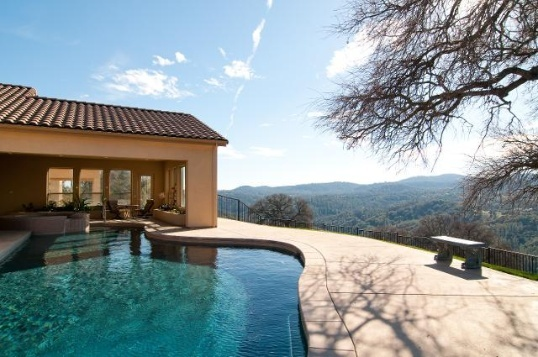 Pool with a view  Beautiful Backyards  Pinterest