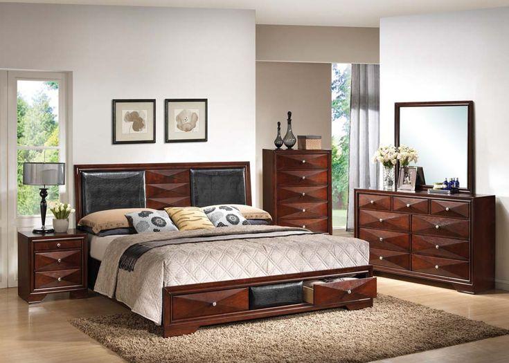 Windsor Bedroom Set ONLY Includes Queen Bed 2 Night Stands