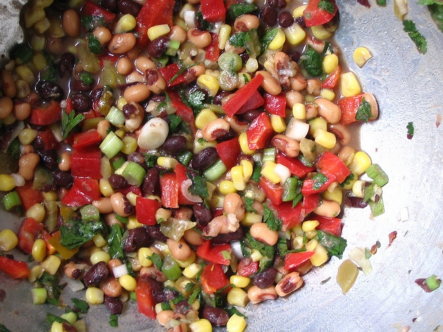 Southern/Texas Dip- red, green, yellow and red peppers diced. Green ...