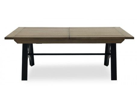 Factory par crozatier table allonges maison et - Table industrielle rallonge ...