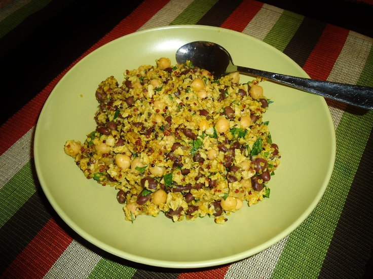 My vegan version of Middle Eastern Rice with Black Beans and Chickpeas ...