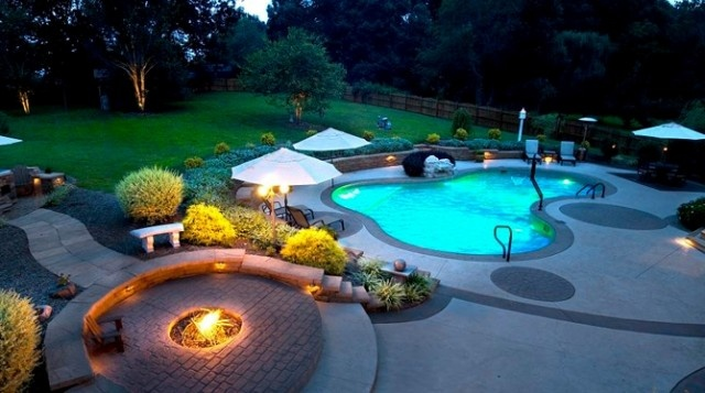 Pin by joyce radke on backyard ideas pinterest for Swimming pool cost calculator
