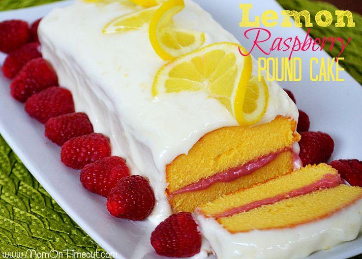 Lemon Pound Cake with a Raspberry Cream Cheese Filling and Lemon Cream ...
