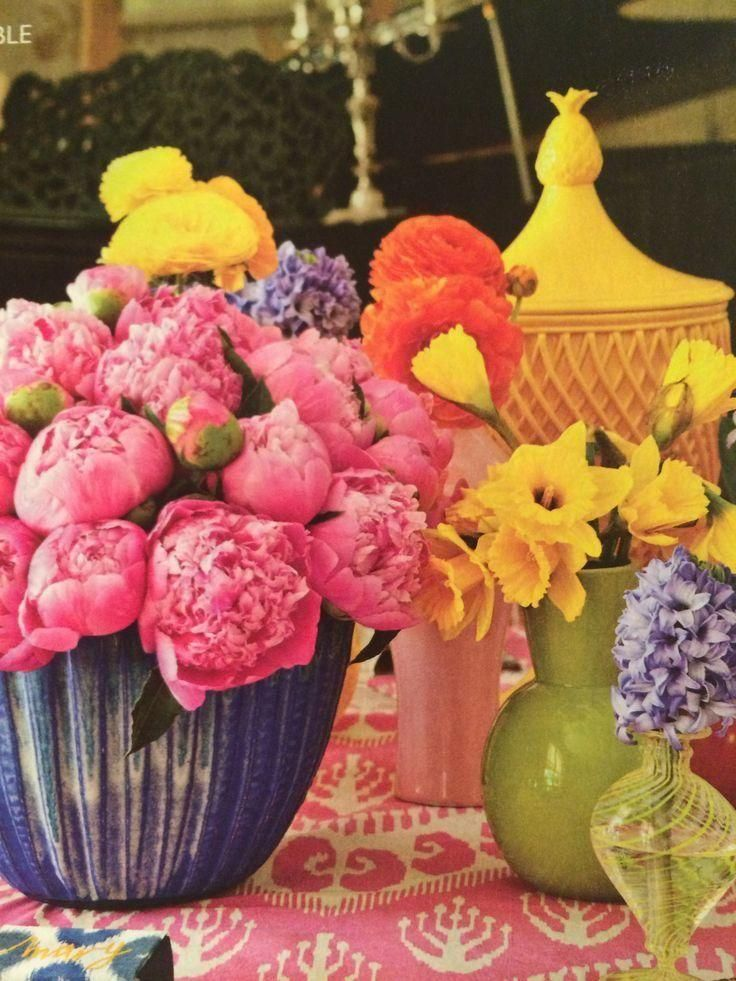 Colorful tablescape by Kimberly Schlegel Whitman, Southern Living April 2012