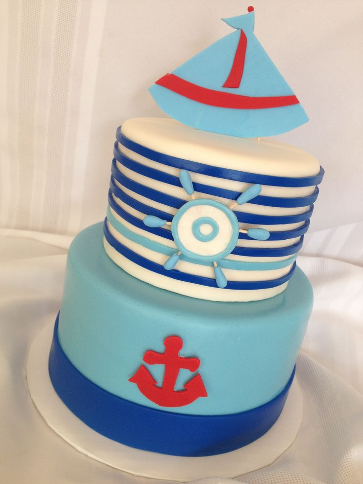 nautical baby shower cake couples shower pinterest