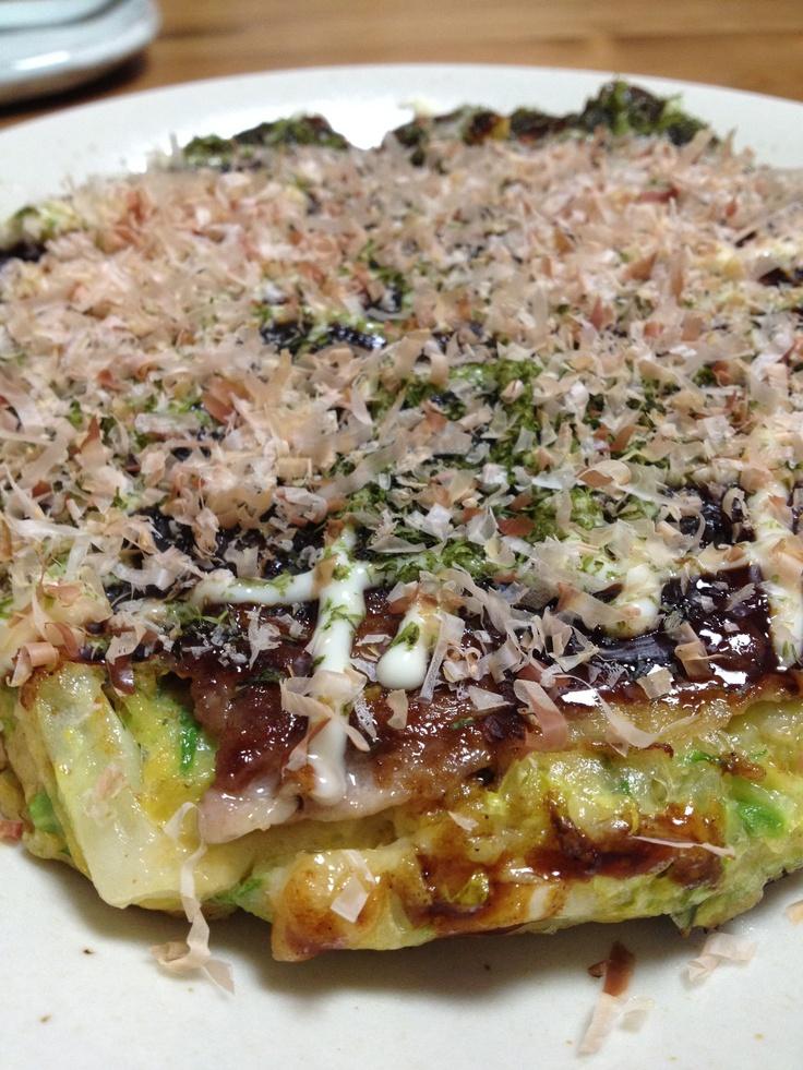 "Japanese Pizza ""OKONOMI-YAKI""! | Nakamulunch | Pinterest"