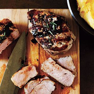 Balsamic-Glazed Pork Chops and Polenta Recipe