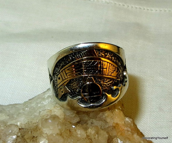 Rmt roderick tenorio native american ring sterling silver for Solid gold fish