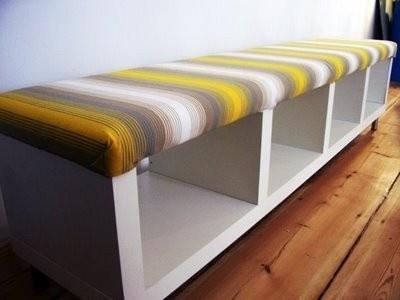 Window seating from a bookshelf