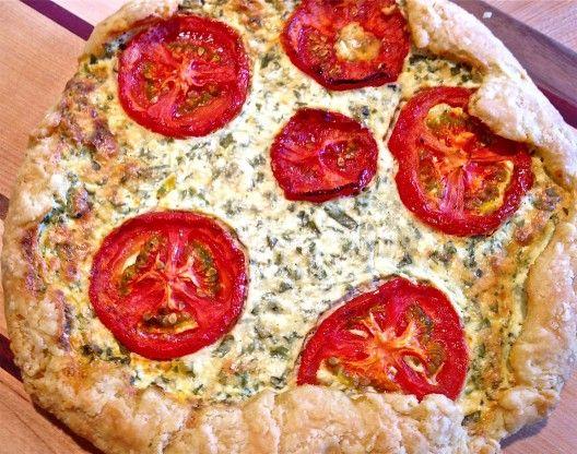 Roasted Tomato and Herb Ricotta Tart | nom nom nom | Pinterest
