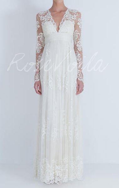 ELIN Hochzeitskleid mit Spitze Brautkleid von Rose Voila auf DaWanda ...