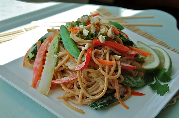 Spicy Szechuan Peanut Noodles with Vegetables. I made the sauce from ...