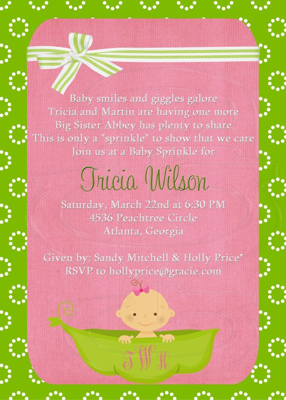 Sprinkle Baby Shower Invitation Wording for beautiful invitation sample